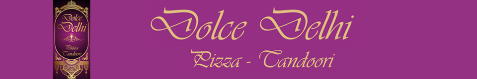 Dolce Delhi banner met logo